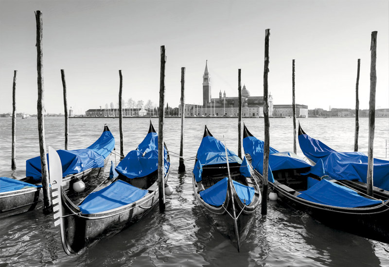 Gondolas In Venice - Scratch and Dent Boats Jigsaw Puzzle