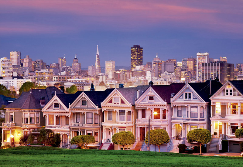 painted ladies san francisco jigsaw puzzle. Black Bedroom Furniture Sets. Home Design Ideas