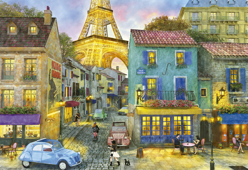 Paris Streets Street Scene Jigsaw Puzzle