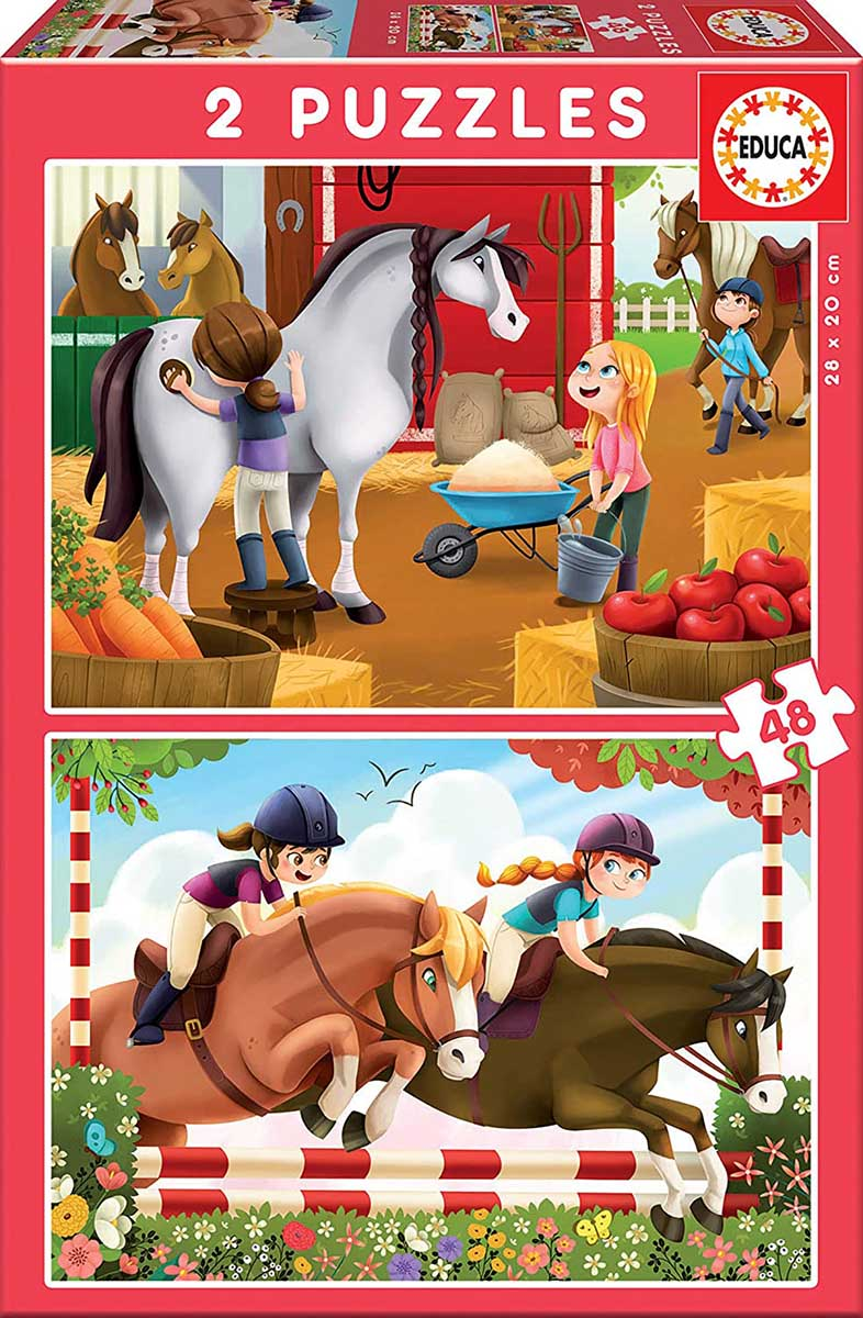 Horse Grooming Horses Jigsaw Puzzle
