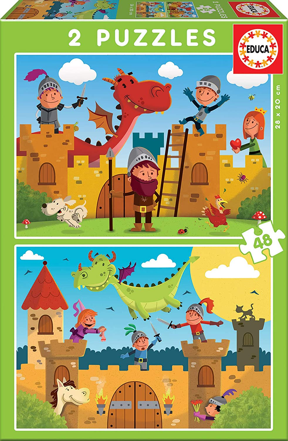 Dragons And Knights Castles Jigsaw Puzzle