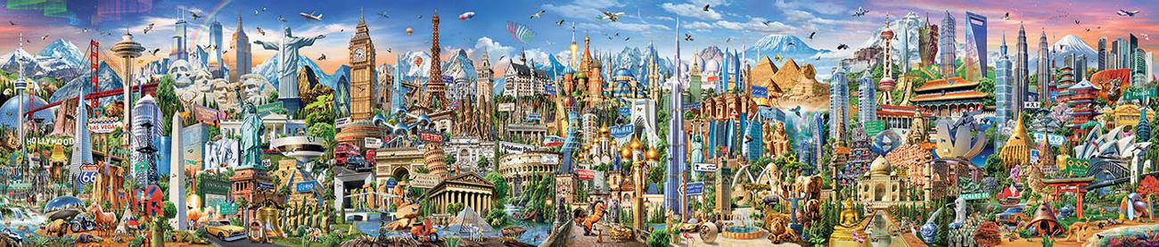 Around the World Landmarks / Monuments Jigsaw Puzzle