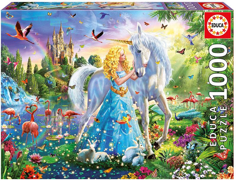 The Princess and the Unicorn Unicorns Jigsaw Puzzle