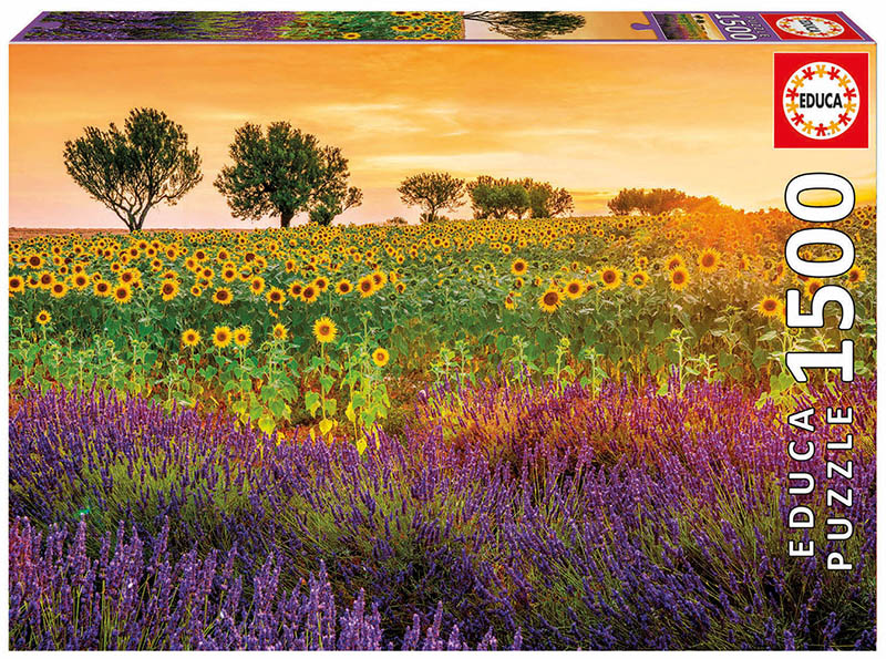 Fields of Sunflowers Flowers Jigsaw Puzzle