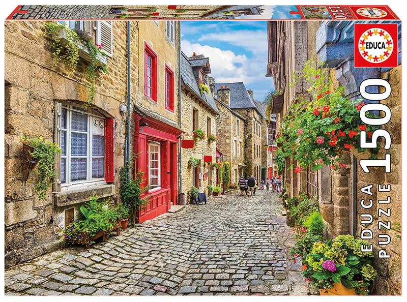 A Walk Among Flowers Street Scene Jigsaw Puzzle