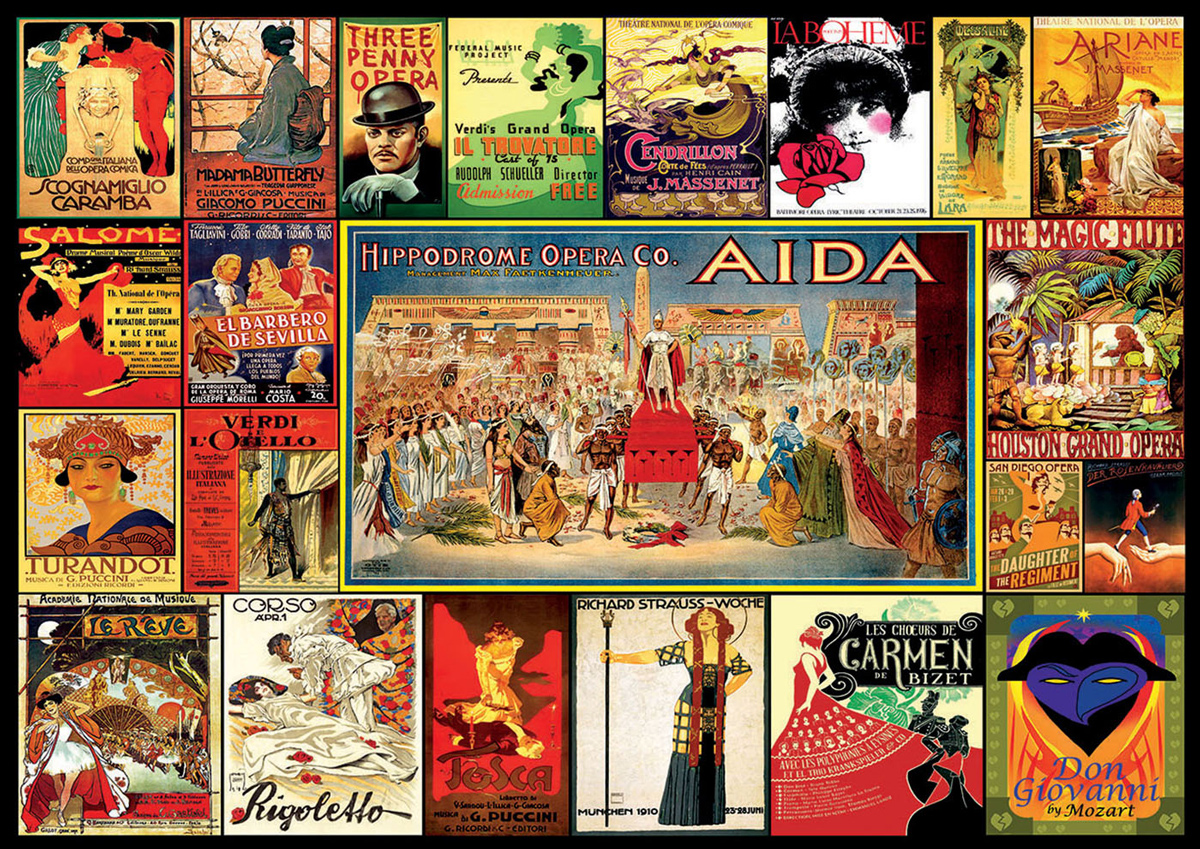 Collage of Operas Music Jigsaw Puzzle