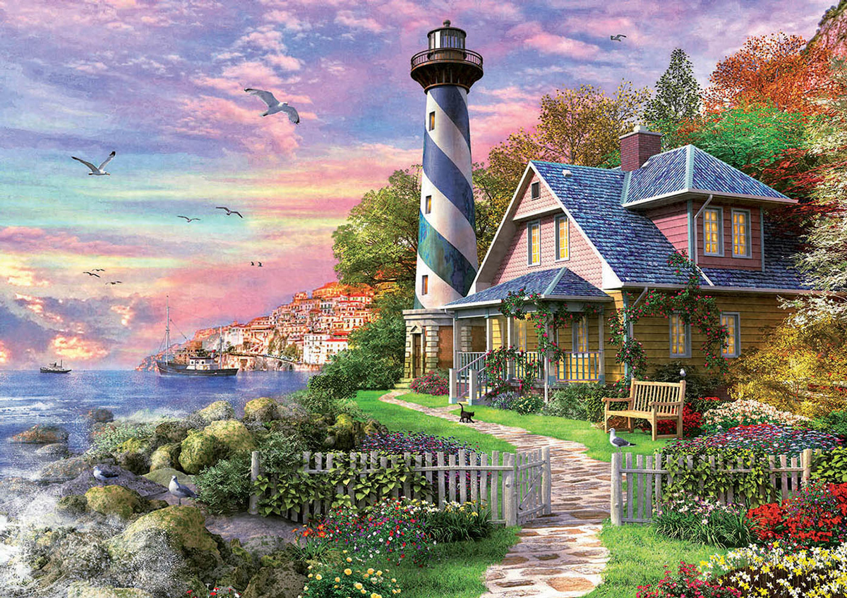 Lighthouse at Rock Bay Lighthouses Jigsaw Puzzle