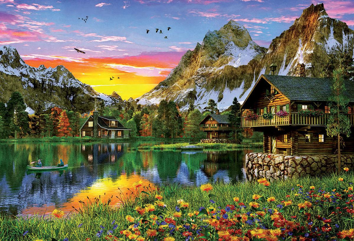 Alpine Lake Lakes / Rivers / Streams Jigsaw Puzzle