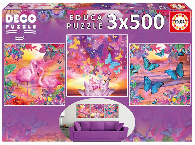 Tropical Views (3 x 500) Birds Jigsaw Puzzle