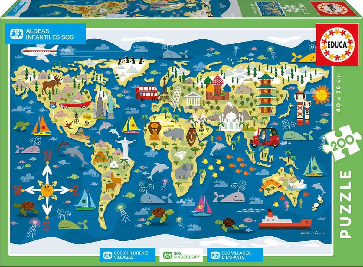 Sos Childrens Village Maps / Geography Jigsaw Puzzle