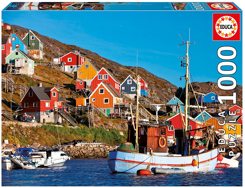 Nordic Houses Seascape / Coastal Living Jigsaw Puzzle