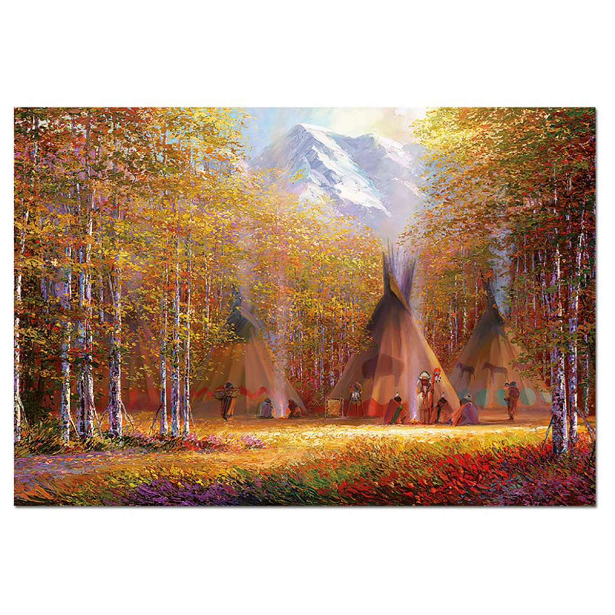 Fall Smoke Native American Jigsaw Puzzle
