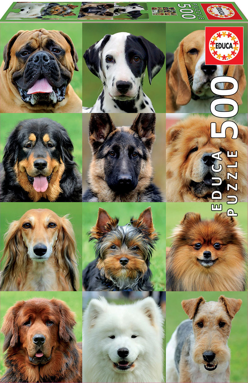 Dogs Collage Dogs Jigsaw Puzzle