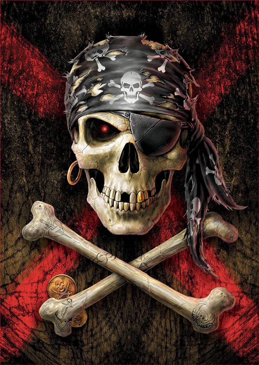 Pirate Skull Halloween Jigsaw Puzzle