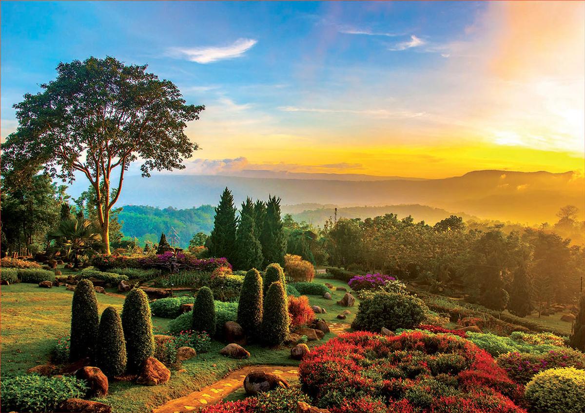 Beautiful Garden Garden Jigsaw Puzzle