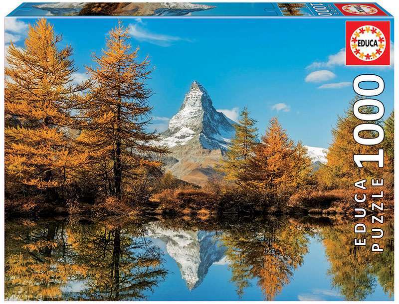 Matterhorn Mountain In Autumn Mountains Jigsaw Puzzle