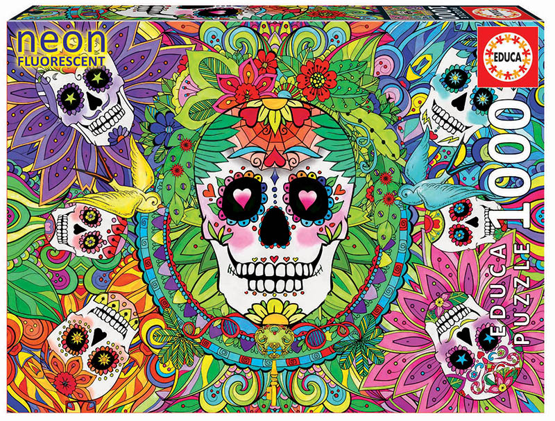 Sugar Skulls Day of the Dead Jigsaw Puzzle