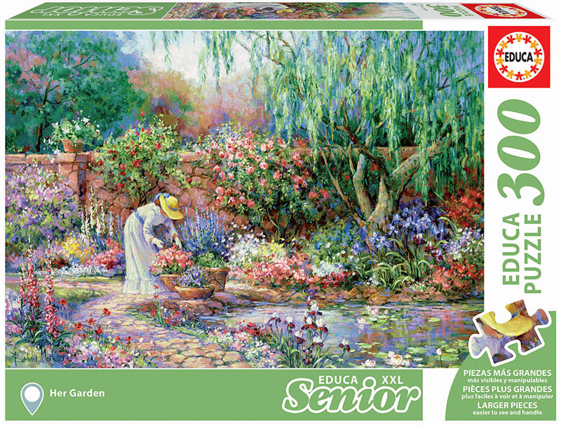 Her Garden Flowers Jigsaw Puzzle