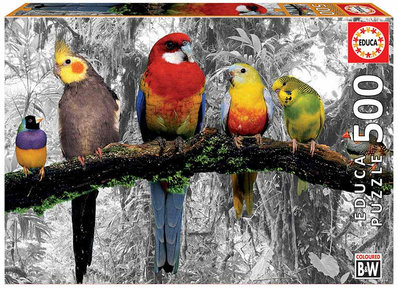 Birds On The Jungle Birds Jigsaw Puzzle