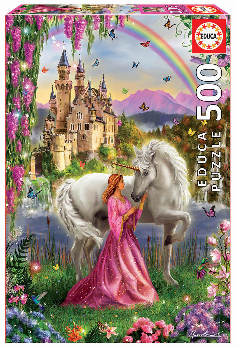 Fairy And Unicorn Princess Jigsaw Puzzle