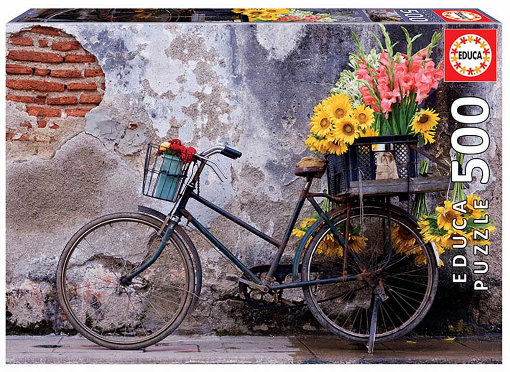 Bicycle With Flowers Everyday Objects Jigsaw Puzzle