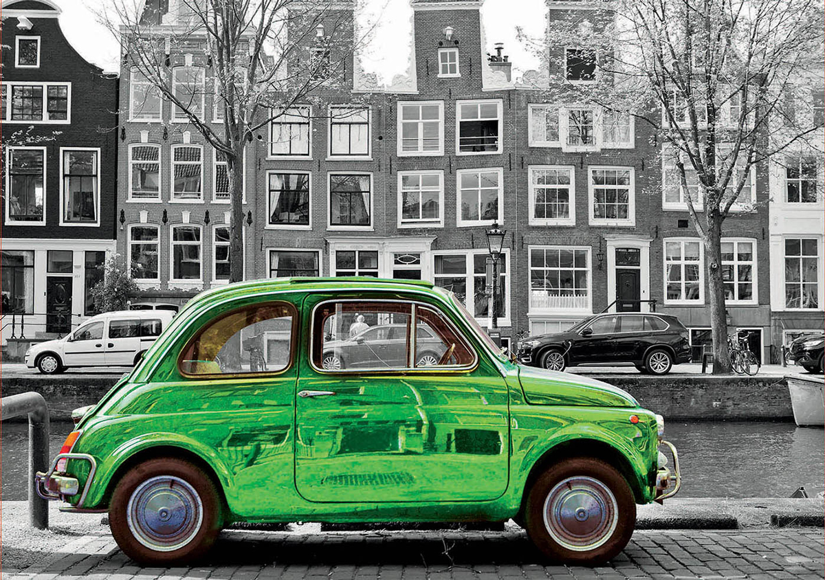 Car In Amsterdam Cars Jigsaw Puzzle