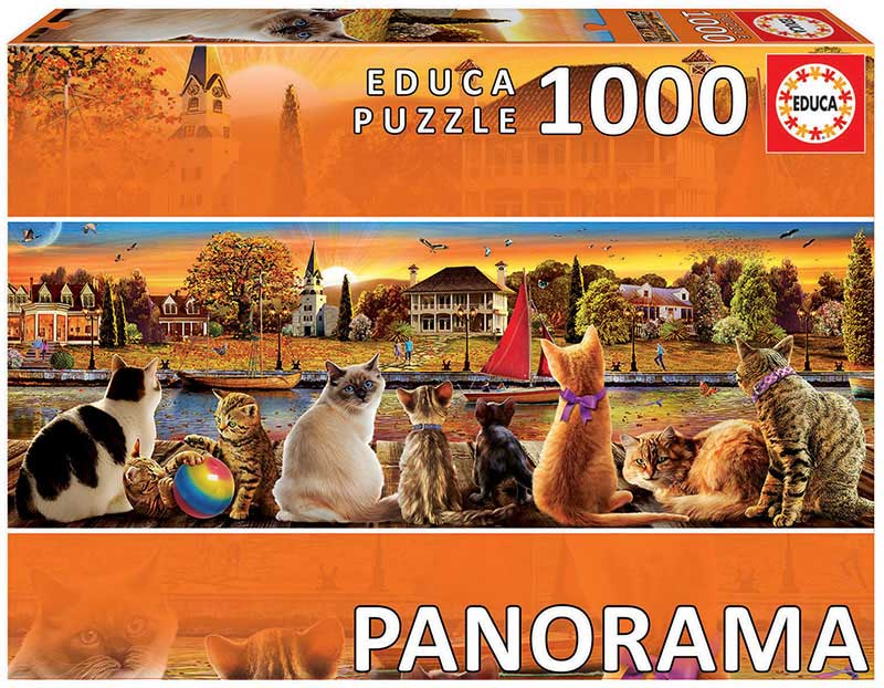 Cats On The Quay Cats Jigsaw Puzzle