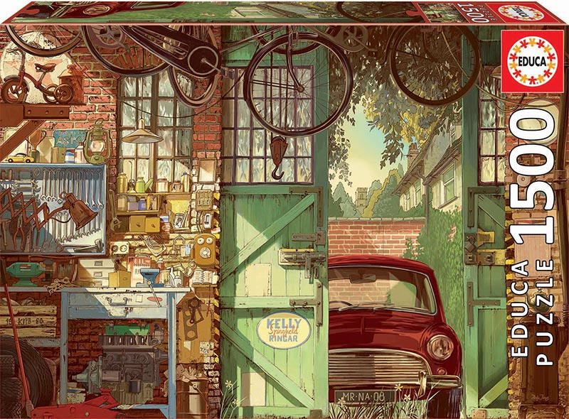 Old Garage Cars Jigsaw Puzzle