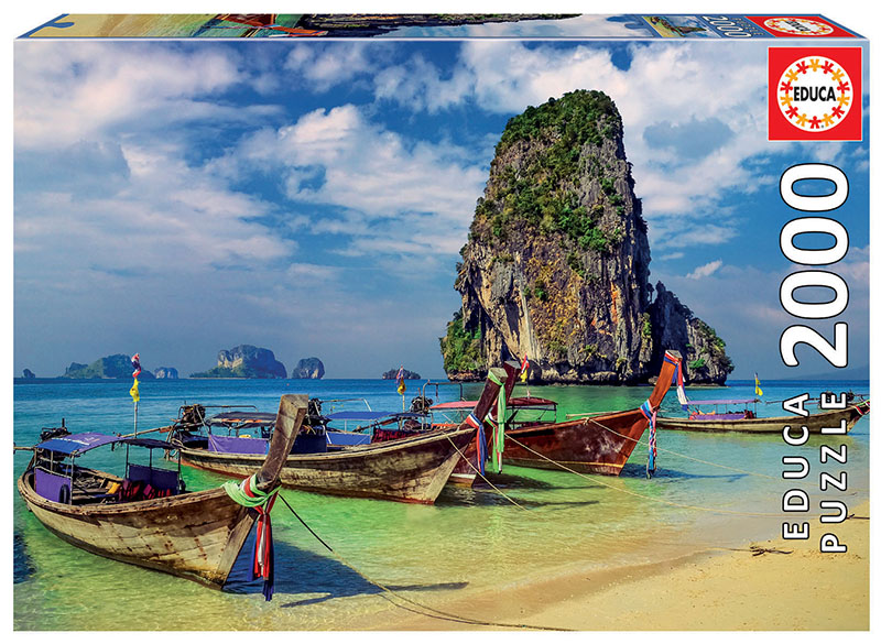 Krabi, Thailand Boats Jigsaw Puzzle