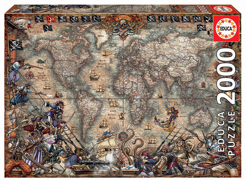 Pirates Map Maps / Geography Jigsaw Puzzle