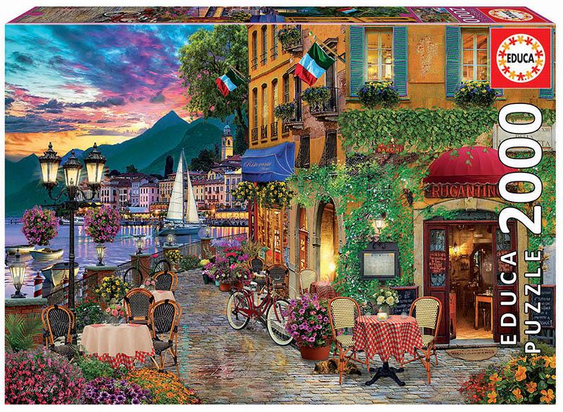 Italian Fascino Street Scene Jigsaw Puzzle