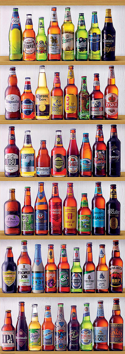 World Beers Pattern / Assortment Jigsaw Puzzle