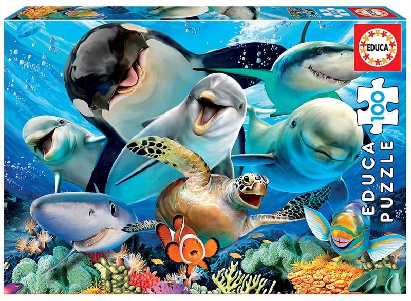 Underwater Selfie Under The Sea Jigsaw Puzzle