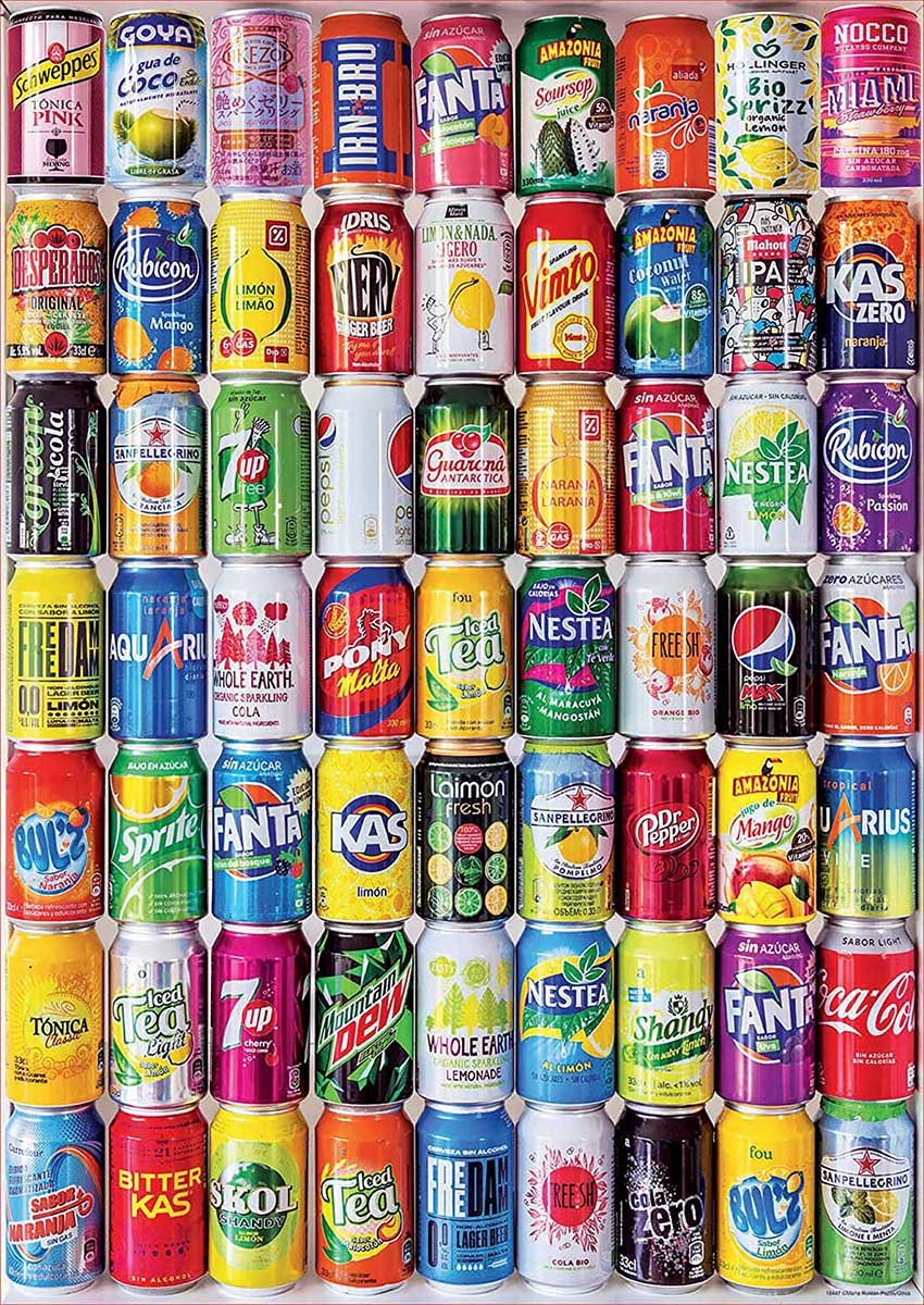 Soft Cans Food and Drink Jigsaw Puzzle