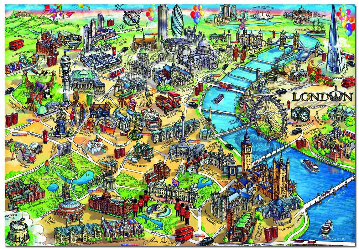 London Map Maps / Geography Jigsaw Puzzle
