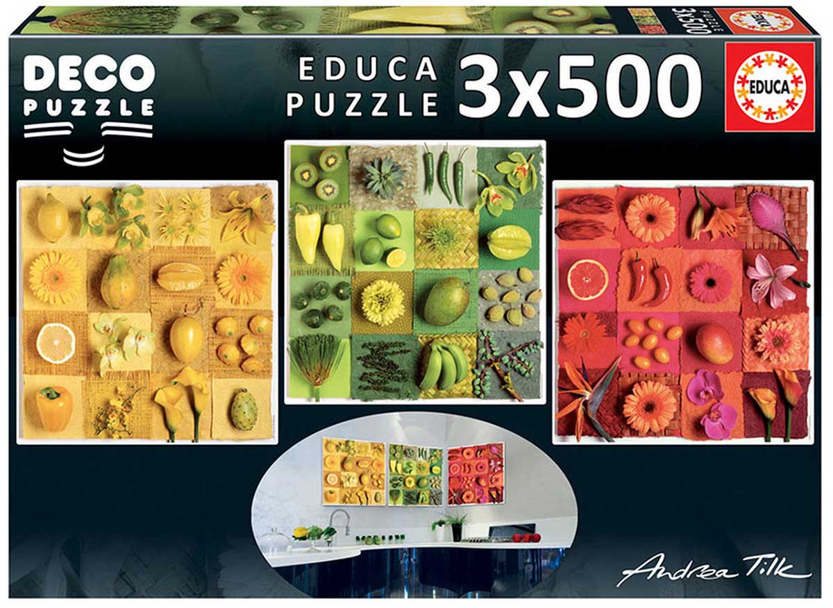 Exotic Fruits And Flowers, Andrea Tilk Food and Drink Jigsaw Puzzle