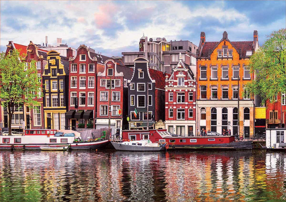 Dancing Houses, Amsterdam Travel Jigsaw Puzzle
