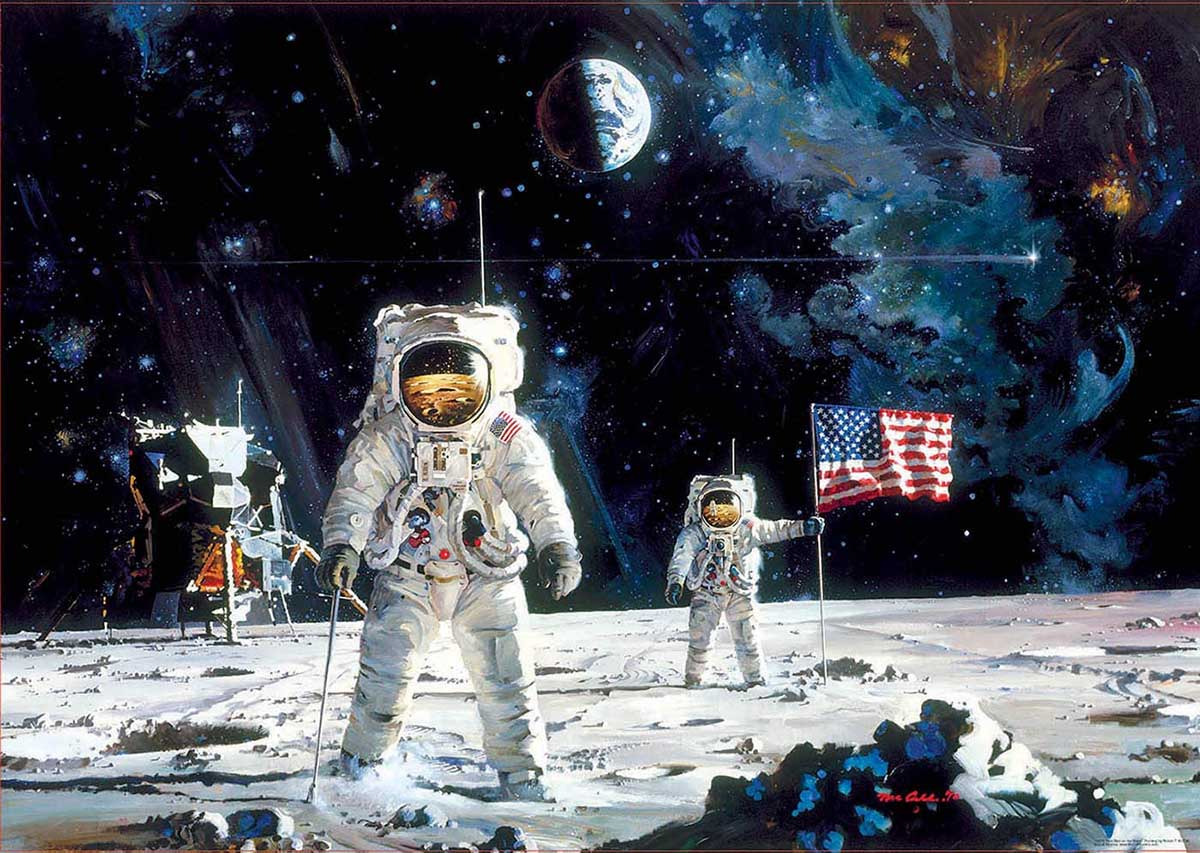 First Men On The Moon Space Jigsaw Puzzle