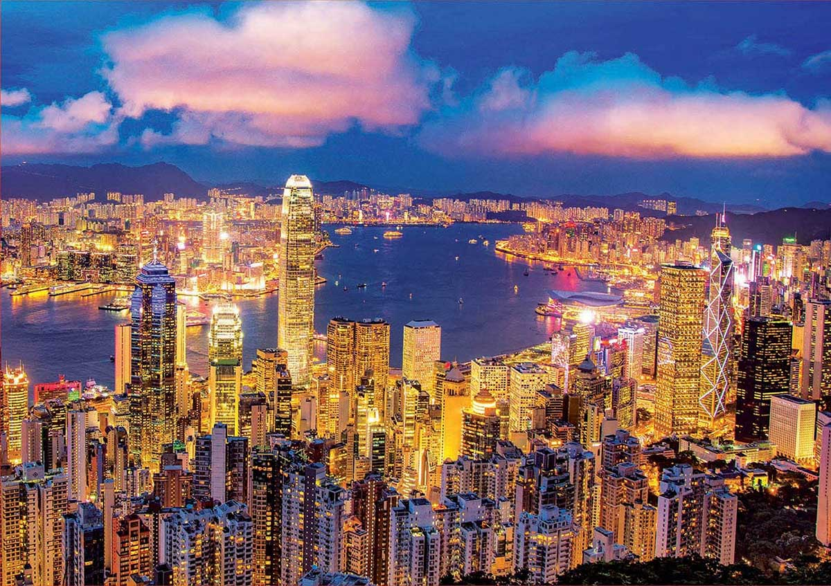Hong Kong Skyline Skyline / Cityscape Glow in the Dark Puzzle