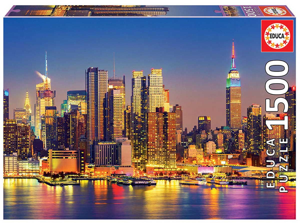 Manhattan At Night Skyline / Cityscape Jigsaw Puzzle