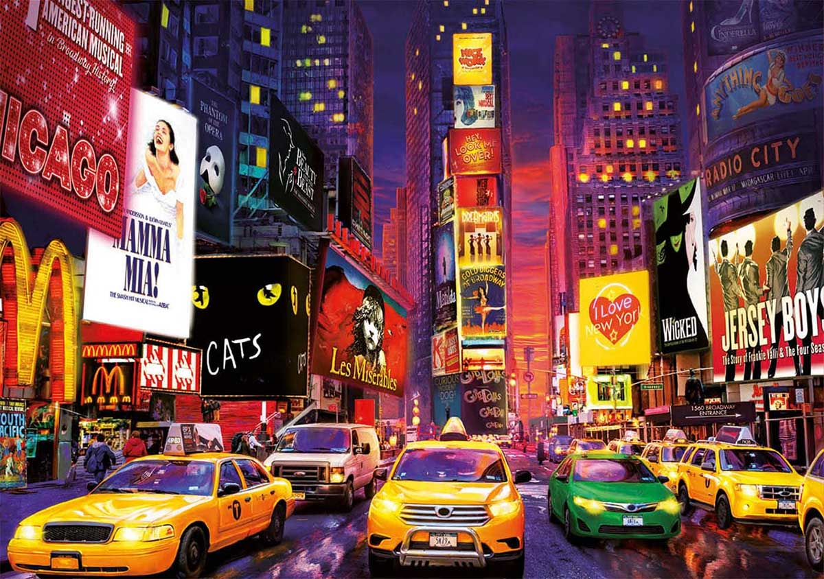 Times Square New York Glow in the Dark Puzzle