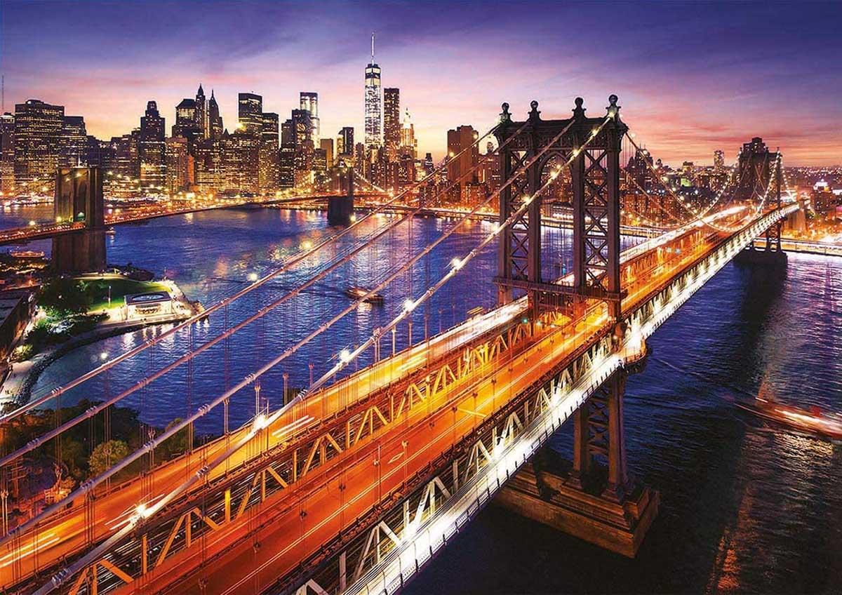 Manhattan At Sunset Skyline / Cityscape Jigsaw Puzzle