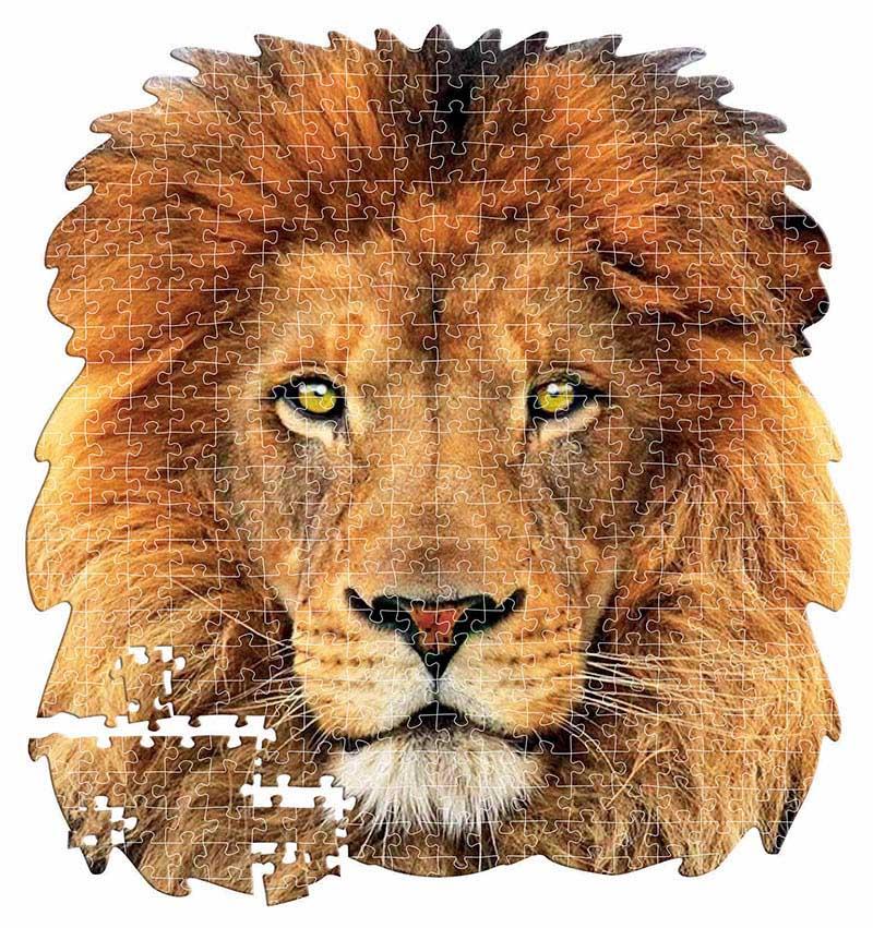 Lion Lions Shaped Puzzle