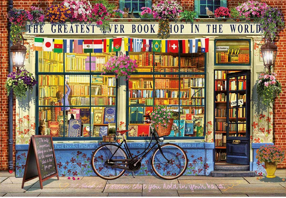 Greatest Book Shop In The World Street Scene Jigsaw Puzzle