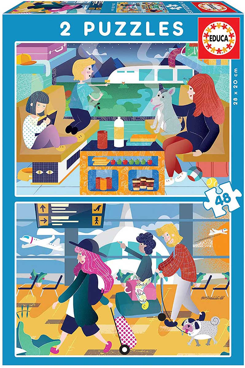 At The Airport/On The Train Travel Jigsaw Puzzle