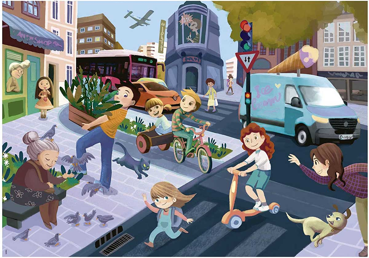 In The City Street Scene Jigsaw Puzzle