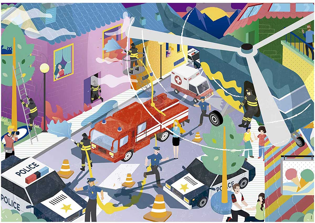 Emergency Services Vehicles Jigsaw Puzzle