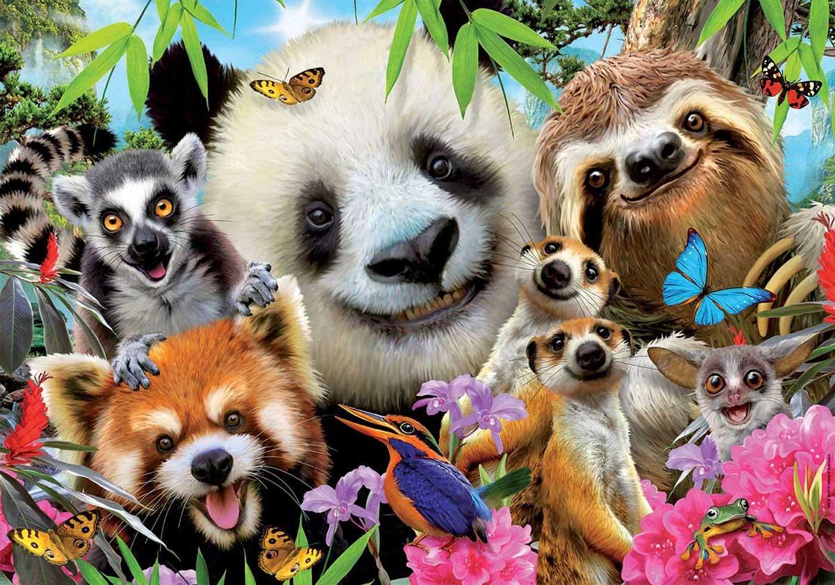Black-Eyed Friends Selfie Animals Jigsaw Puzzle