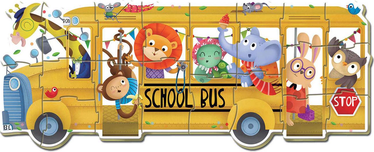 Animal School Bus Animals Jigsaw Puzzle