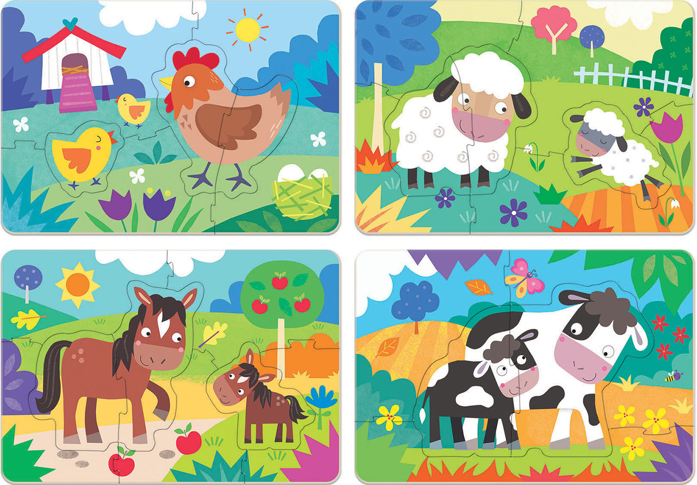 Mothers & Babies Farm Animals Jigsaw Puzzle